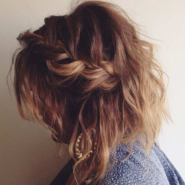 17 Chic Braided Hairstyles For Medium Length Hair   Stayglam With Braided Shoulder Length Hairstyles (View 22 of 25)