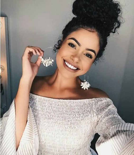 17 Cute And Easy Curly Updos For Curly Hair Pertaining To Elegant Messy Updo Hairstyles On Curly Hair (View 22 of 25)