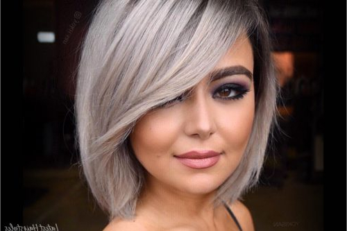 17 Hottest Short Bob With Bangs You'll See In 2019 With Regard To Messy Short Bob Hairstyles With Side Swept Fringes (View 18 of 25)