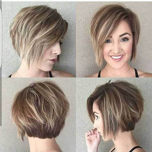 18 Fresh Layered Short Hairstyles For Round Faces – Crazyforus In Layered Short Bob Haircuts (View 18 of 25)