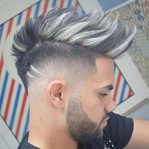19 Best Mohawk Fade Haircuts (2019 Guide) For Turquoise Side Parted Mohawk Hairstyles (View 4 of 25)