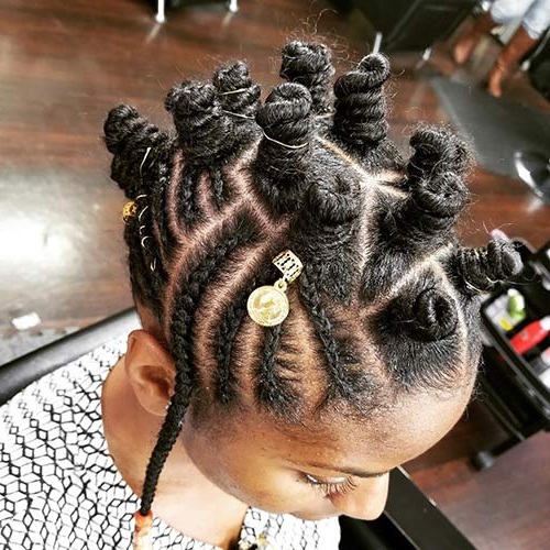 20 Best Bantu Knots Hairstyles With Braided Bantu Knots Mohawk Hairstyles (View 21 of 25)