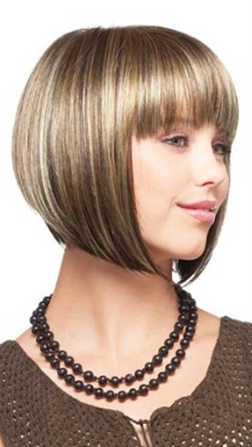 20 Best Chin Length Bob With Bangs In 2019 | Chin Length With Regard To Classic Bob Hairstyles With Side Part (View 25 of 25)