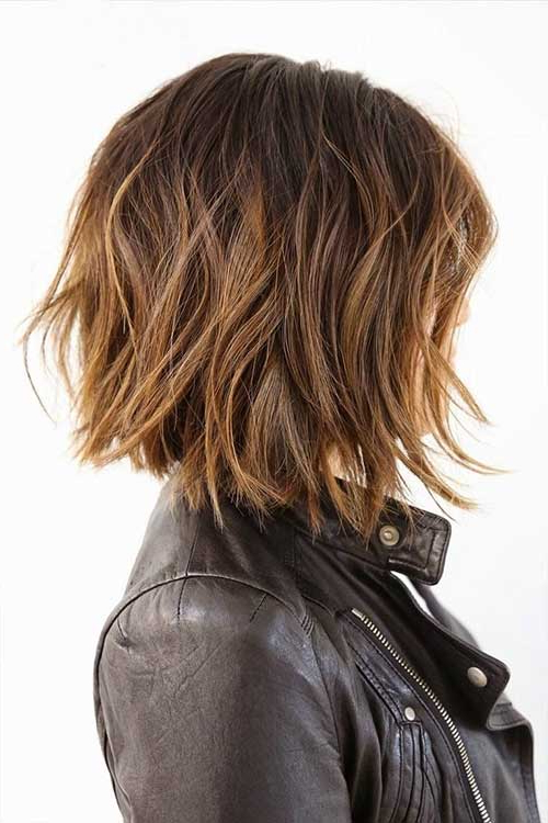 20 Best Layered Bob Hairstyles Throughout Edgy Textured Bob Hairstyles (View 15 of 25)