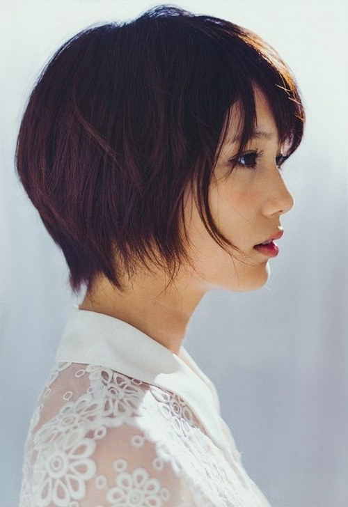20 Charming Short Asian Hairstyles For 2020 In 2019 With Regard To Elongated Bob Asian Hairstyles (View 14 of 25)