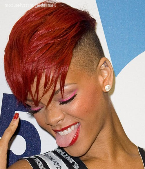20 Fancy Natural Hair Mohawk Hairstyles | Desirablehairstyles Inside Hot Red Mohawk Hairstyles (View 12 of 25)
