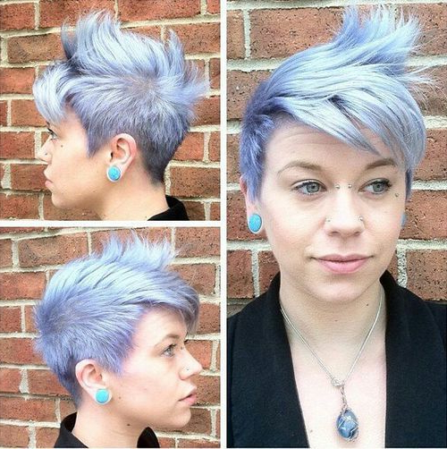20 Faux Hawk Inspired Hairstyles: Amazing Hairstyles For Women With Regard To Icy Purple Mohawk Hairstyles With Shaved Sides (View 8 of 25)