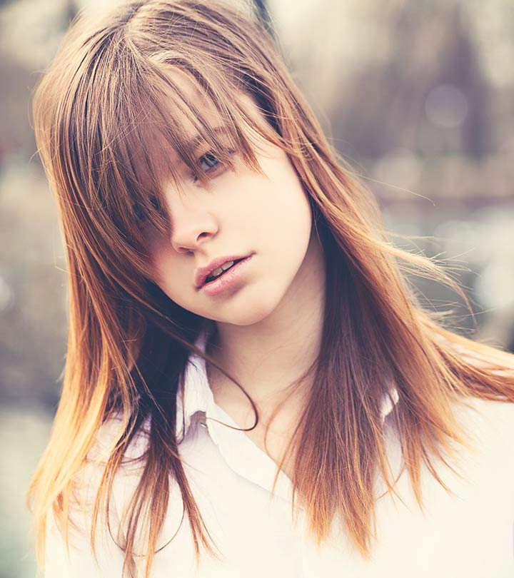 20 Incredible Medium Length Hairstyles With Bangs Intended For Messy Voluminous Ponytail Hairstyles With Textured Bangs (View 18 of 25)