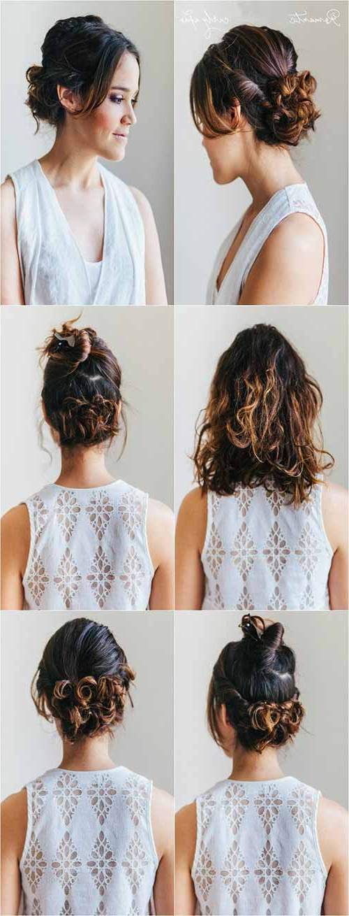 20 Incredibly Stunning Diy Updos For Curly Hair In Messy Updo Hairstyles With Free Curly Ends (View 6 of 25)