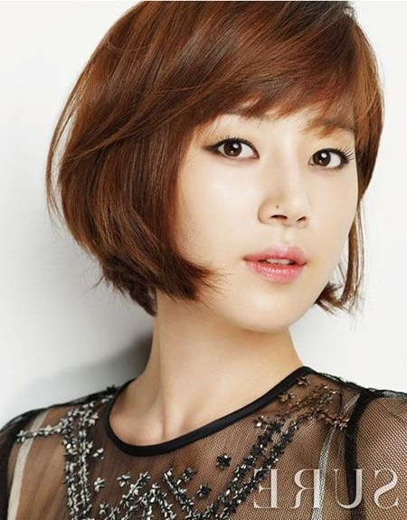 20 Popular Short Hairstyles For Asian Girls – Pretty Designs Within Blunt Bangs Asian Hairstyles (View 18 of 25)