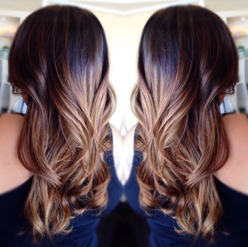 20 Pretty Spring Ombré Hair Ideas 2020 Inside Black To Light Brown Ombre Waves Hairstyles (View 16 of 25)