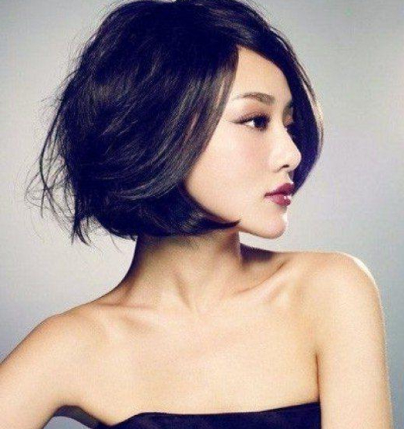 20 Short Haircuts For Asian Women – Reviewtiful For Asymmetrical Bob Asian Hairstyles (View 8 of 25)