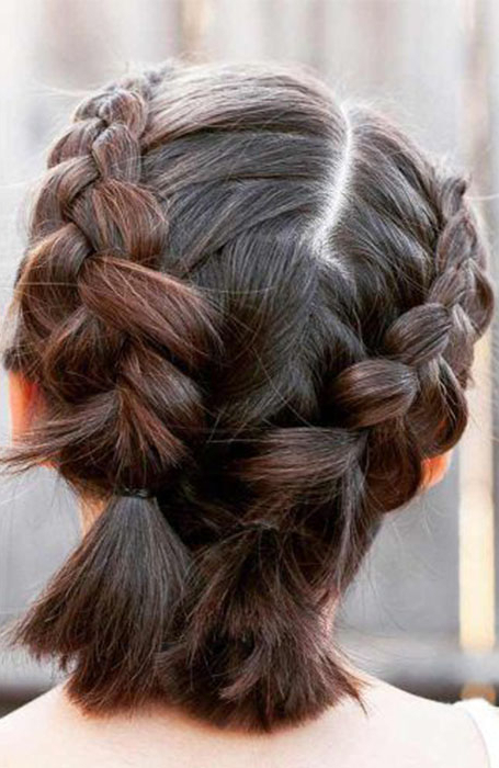 20 Stunning Updos For Short Hair – The Trend Spotter Pertaining To Cute Bob Hairstyles With Bun (View 8 of 25)