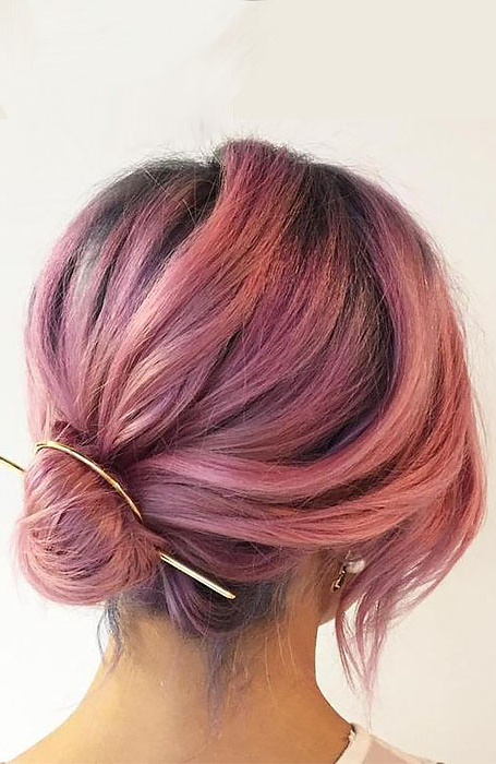 20 Stunning Updos For Short Hair – The Trend Spotter Throughout Cute Bob Hairstyles With Bun (View 19 of 25)