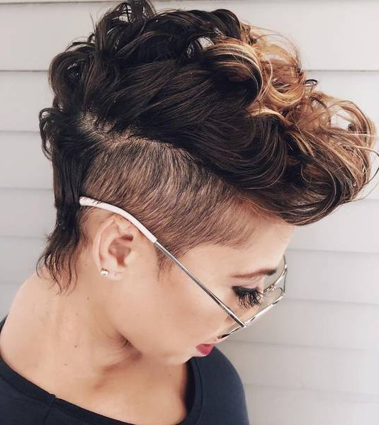 20 Very Short 'pixie' Cuts That Make A Big Chop Worth It Intended For Long Luscious Mohawk Haircuts For Curly Hair (View 18 of 25)