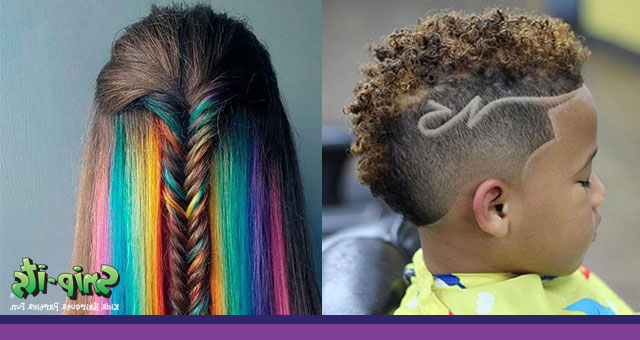 2018 Kids' Hair Trends   Snip Its Inside Turquoise Side Parted Mohawk Hairstyles (View 13 of 25)