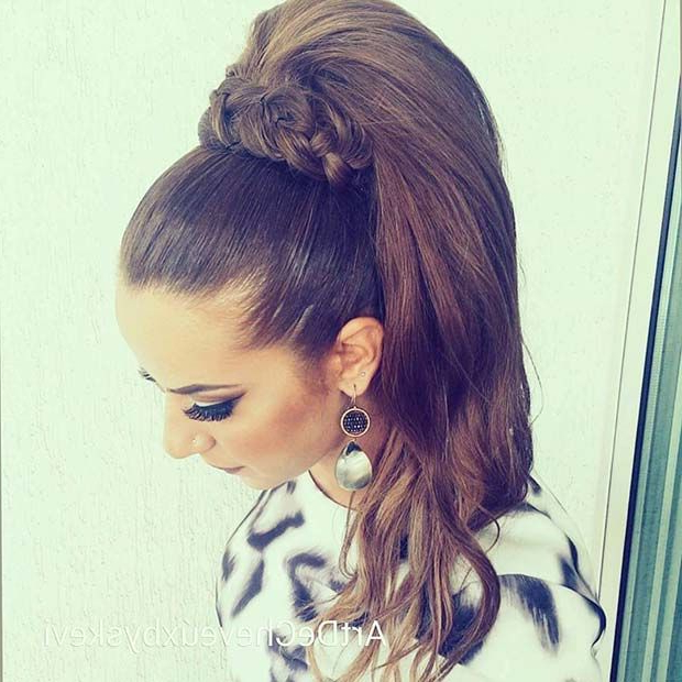 21 Elegant Ponytail Hairstyles For Special Occassions In High Long Ponytail Hairstyles With Hair Wrap (View 13 of 25)
