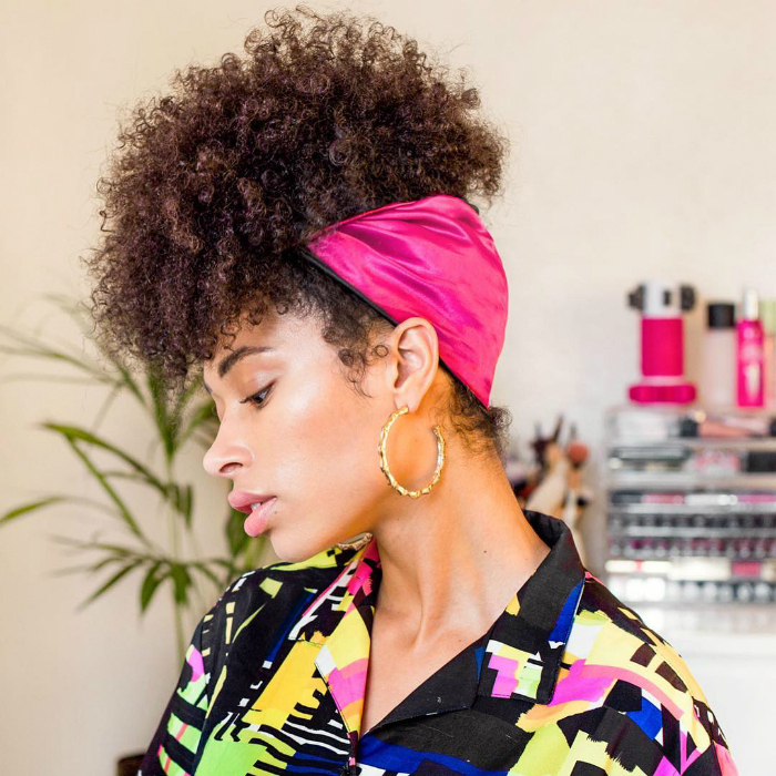 21 Natural Hairstyles For Curly Hair | Naturallycurly Intended For High Bun With Twisted Hairstyles Wrap And Graduated Side Bang (View 20 of 25)