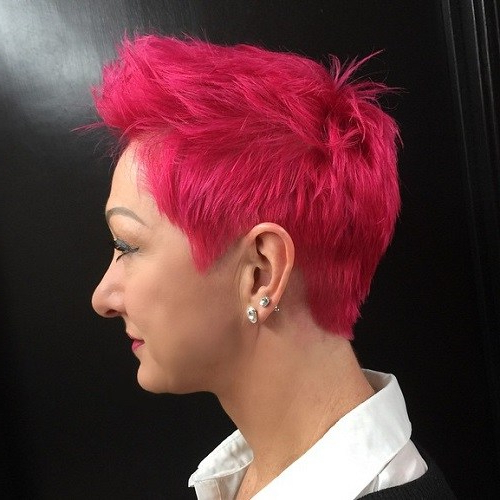 22 Best Colorful Ways To Enhance Your Pixie Haircuts 2020 Inside Hot Red Mohawk Hairstyles (View 13 of 25)