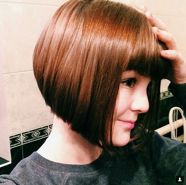 22 Cute Inverted Bob Hairstyles – Popular Haircuts With Hort Bob Haircuts With Bangs (View 14 of 25)