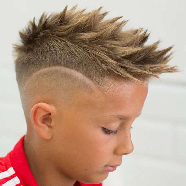 23 Cool Kids Mohawk Haircuts Your Little Boys Will Love Pertaining To Blonde Curly Mohawk Hairstyles For Women (View 18 of 27)