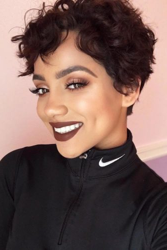 23 Cute And Flattering Curly Pixie Cut Ideas Regarding Blonde Pixie Haircuts With Curly Bangs (View 15 of 25)