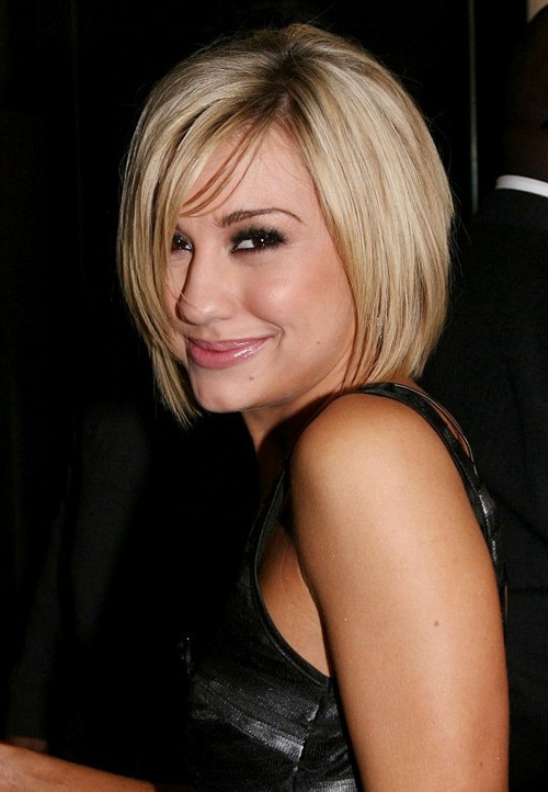 23 Head Turning Short Bob Hairstyles With Bangs For Women Regarding Messy Short Bob Hairstyles With Side Swept Fringes (View 20 of 25)