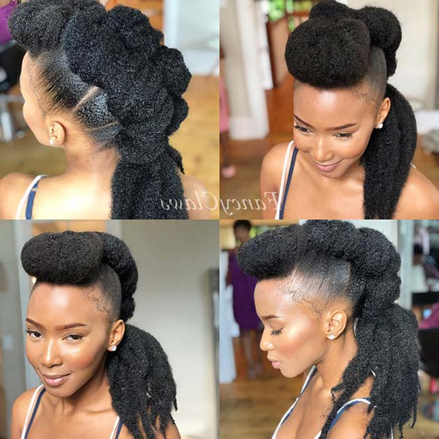 23 Mohawk Braid Styles That Will Get You Noticed | Stayglam For Ponytail Mohawk Hairstyles (View 6 of 25)