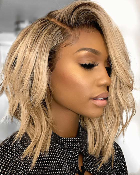 23 Popular Bob Weave Hairstyles For Black Women | Stayglam Regarding Glam Blonde Bob Haircuts (View 9 of 25)