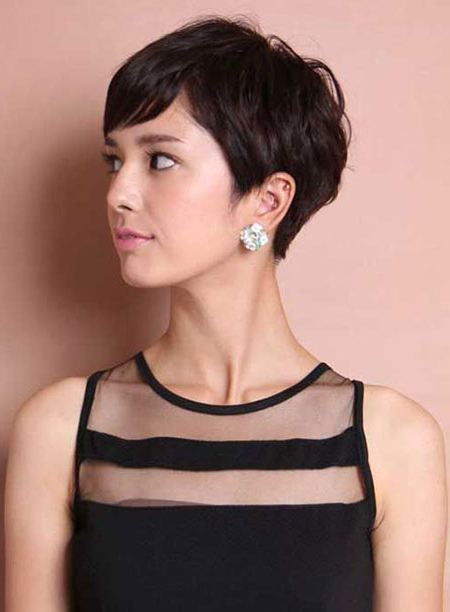 23 Short Haircuts For Asian Hair | Short Hairstyles Regarding Messy Pixie Asian Hairstyles (View 19 of 25)