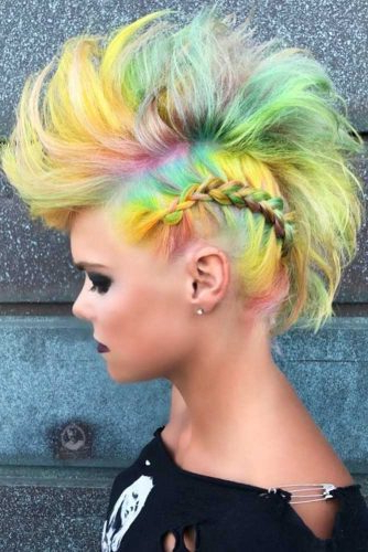 24 Cool And Daring Faux Hawk Hairstyles For Women – Crazyforus In Braided Faux Mohawk Hairstyles For Women (View 16 of 25)