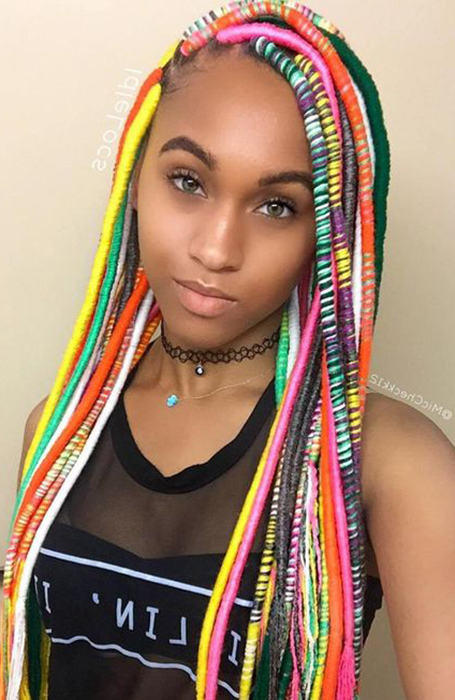 25 Cool Dreadlock Hairstyles For Women – The Trend Spotter Intended For Mermaid Waves Hairstyles With Side Cornrows (View 22 of 25)