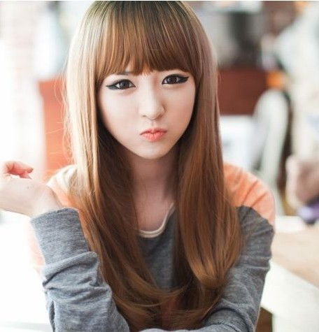 25 Gorgeous Asian Hairstyles For Girls Within Blunt Bangs Asian Hairstyles (View 6 of 25)