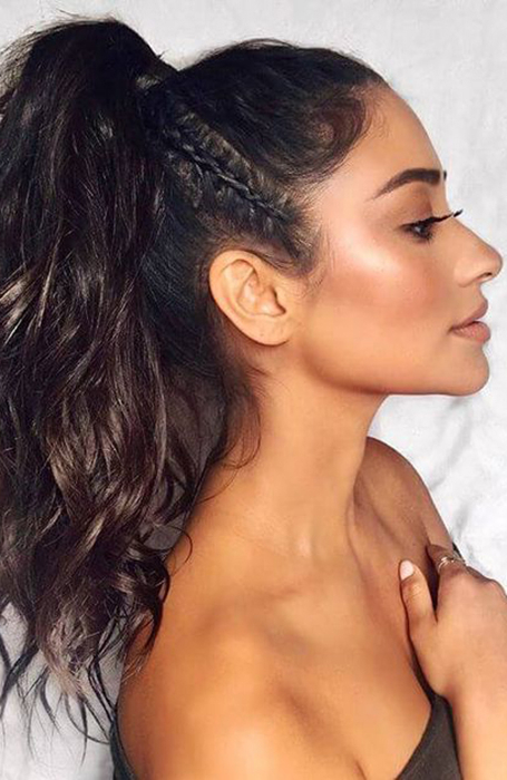 25 Ponytail Hairstyles That Will Suit Every Hair Type – The Inside High Long Ponytail Hairstyles With Hair Wrap (View 5 of 25)