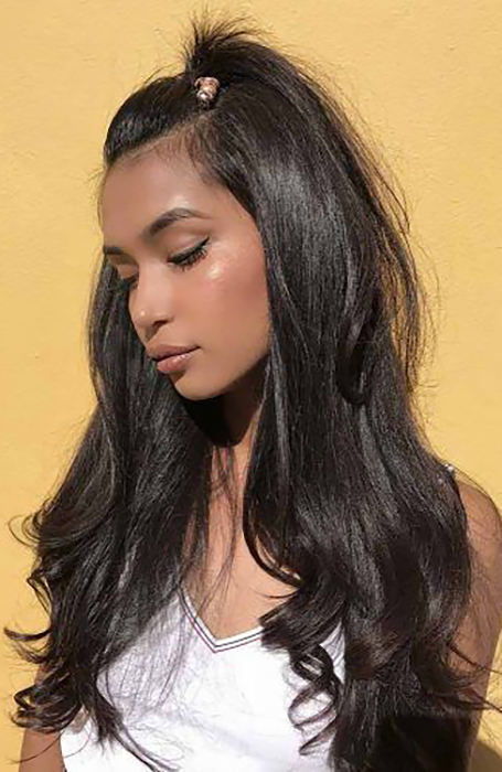 25 Ponytail Hairstyles That Will Suit Every Hair Type – The With Regard To High Long Ponytail Hairstyles With Hair Wrap (View 2 of 25)