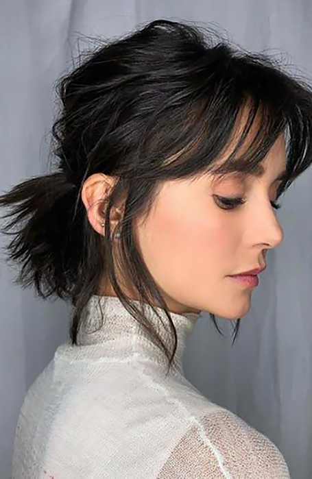 25 Ponytail Hairstyles That Will Suit Every Hair Type – The With Turned And Twisted Pigtails Hairstyles With Front Fringes (View 21 of 25)