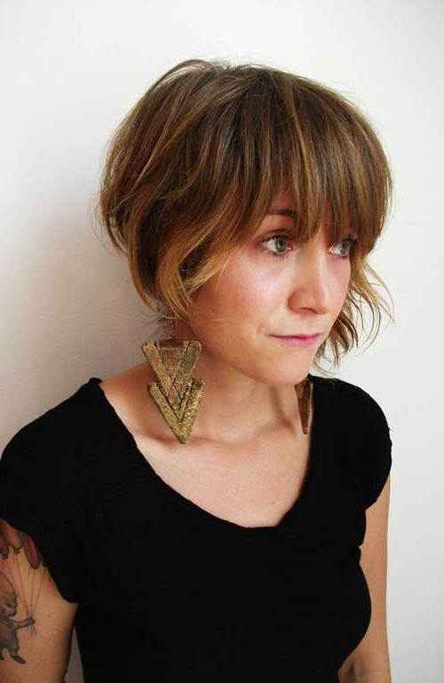 25 Short Bob Haircut With Bangs Intended For Hort Bob Haircuts With Bangs (View 15 of 25)
