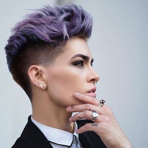 26 Cute Short Haircuts That Aren't Pixies In 2019   Hair Intended For Asymmetrical Chop Mohawk Haircuts (View 9 of 25)