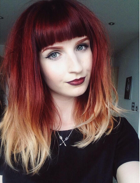 26 Stunning New Red Hair Colour Ideas – Popular Haircuts With Medium Length Red Hairstyles With Fringes (View 15 of 25)