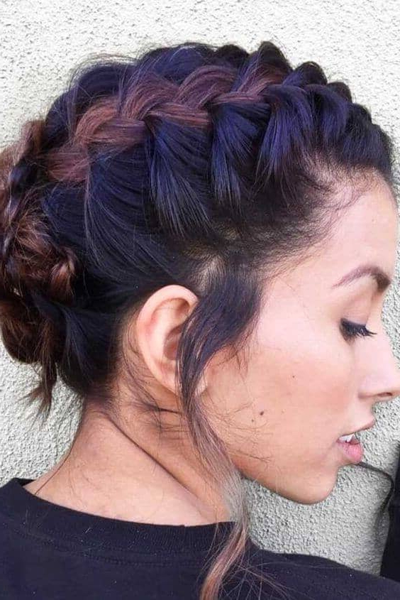 27 Braid Hairstyles For Short Hair That Are Simply Gorgeous Throughout Pretty Short Bob Haircuts With Braid (View 20 of 25)