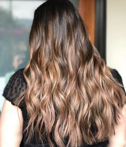 28 Greatest Brown Hair With Blonde Highlights For 2019 In Long Waves Hairstyles With Subtle Highlights (View 8 of 25)