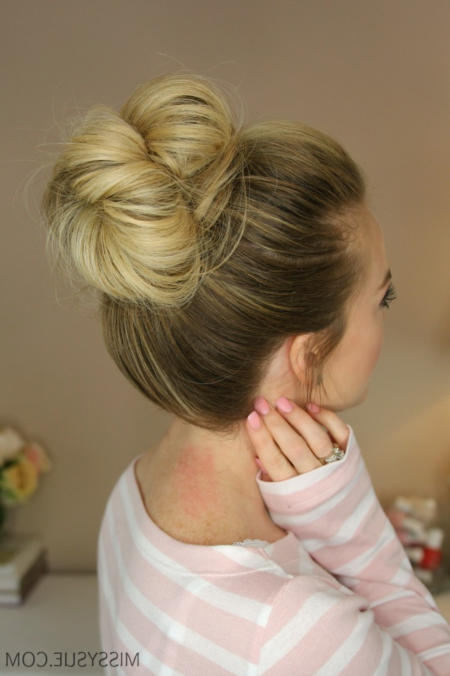 3 Messy Buns | Missy Sue Pertaining To High Looped Ponytail Hairstyles With Hair Wrap (View 16 of 25)