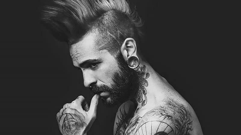 30 Awesome Mohawk Hairstyles For Men – The Trend Spotter Regarding Long Hair Mohawk Hairstyles With Shaved Sides (View 17 of 25)