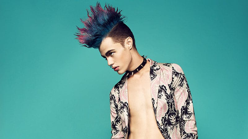 30 Awesome Mohawk Hairstyles For Men – The Trend Spotter Throughout Blue Hair Mohawk Hairstyles (View 22 of 25)