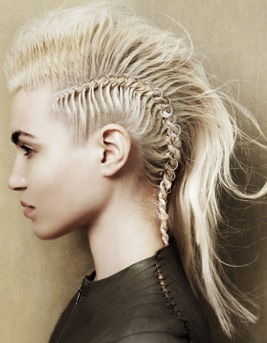 30 Braided Mohawk Styles That Turn Heads Regarding Teased Long Hair Mohawk Hairstyles (View 10 of 25)