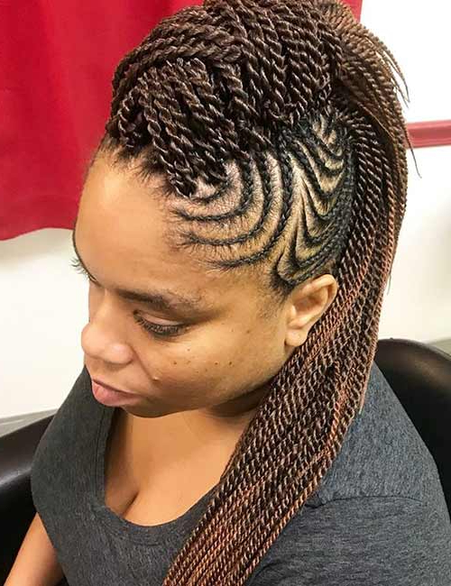 30 Edgy Braided Mohawks You Need To Check Out Inside Twisted Braids Mohawk Hairstyles (View 15 of 25)