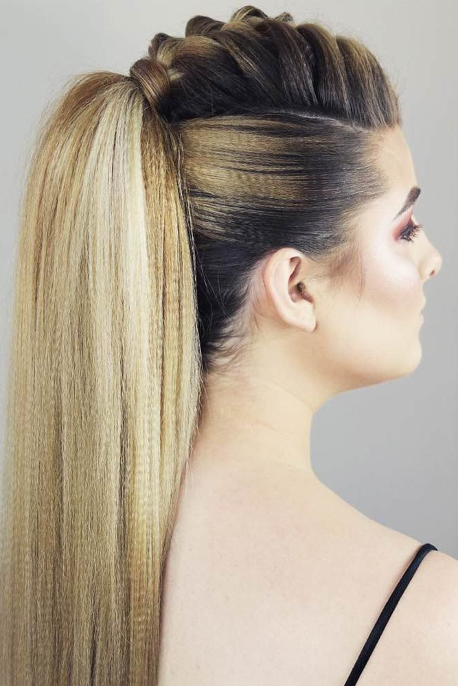 30 Girly Braided Mohawk Ideas To Keep Up With Trends Inside Ponytail Mohawk Hairstyles (View 3 of 25)