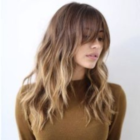 30 Haircuts For Women With Bangs – Hairstyle On Point Intended For Long Hairstyles With Straight Fringes And Wavy Ends (View 14 of 25)