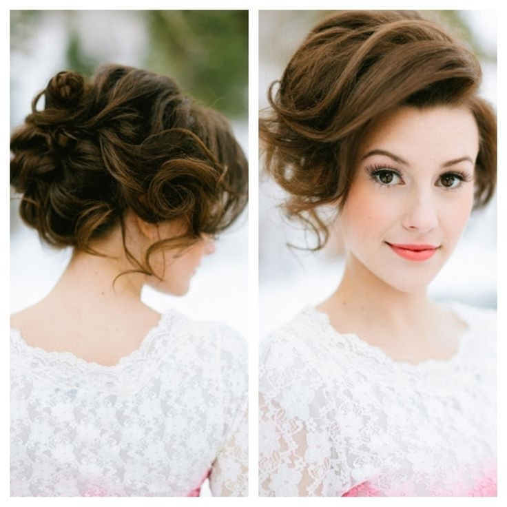 30 Hottest Bridesmaid Hairstyles For Long Hair – Popular Inside Elegant Messy Updo Hairstyles On Curly Hair (View 24 of 25)