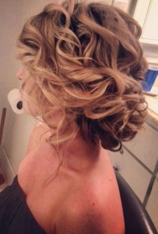 30 Hottest Bridesmaid Hairstyles For Long Hair | Romantic Regarding Messy Updo Hairstyles With Free Curly Ends (View 10 of 25)